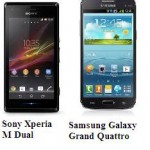 Comparison Of Phones Of Companies: Sony Xperia M Dual VS Samsung Galaxy Grand Quattro G-C2865